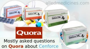 Mostly Asked Question on Quora About Sildenafil Cenforce 100mg